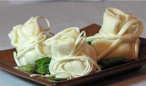 мешочки из сыра с творожной начинокй