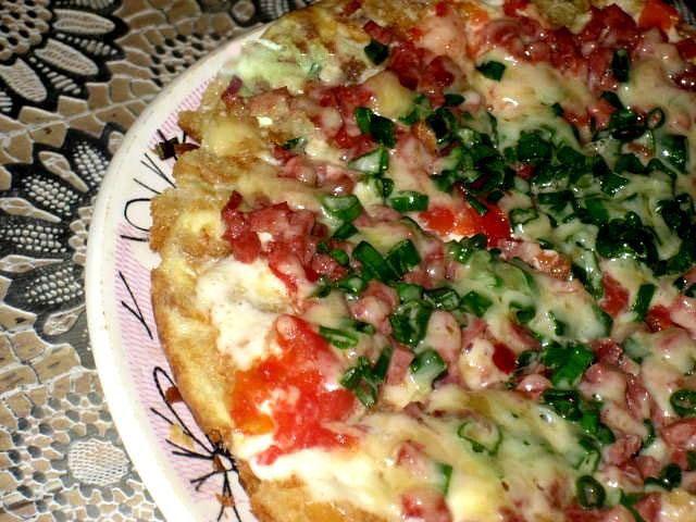 рецепты пиццы на хлебе на сковороде