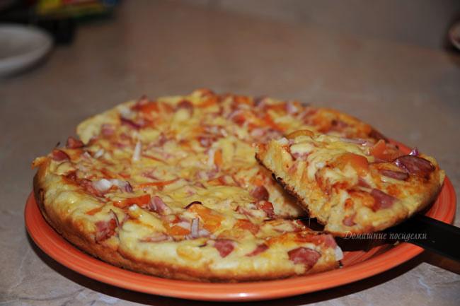 пицца на сковороде с фото