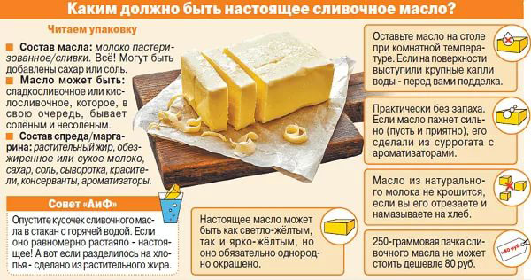 Как выбрать хорошее сливочное масло