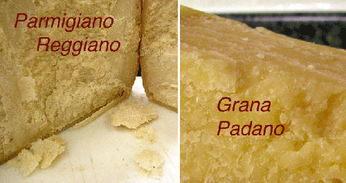 Какая разница между Пармиджано Реджано и Грана Падано