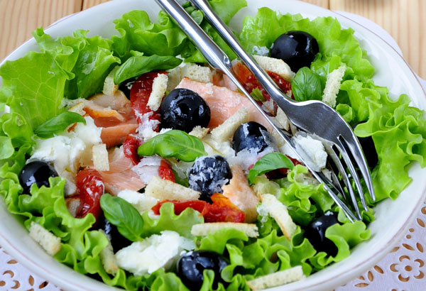 рецепты салатов с сыром рикотта